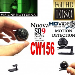 TELECAMERA SPIA MICROCAMERA INFRAROSSI FULL HD NASCOSTA NIGHT VISION MINI SQ9