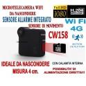 MICRO TELECAMERA C1 MINI DV WIFI 4G CON SENSORE ALLARME MOTION DETECTION