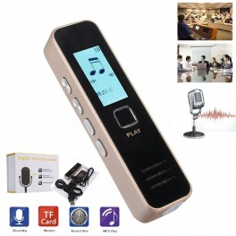 REGISTRATORE VOCALE AUDIO DIGITALE CON SCHERMO LCD MP3 RECORDER MEMORIA ESPANDIBILE IN ALLUMINIO