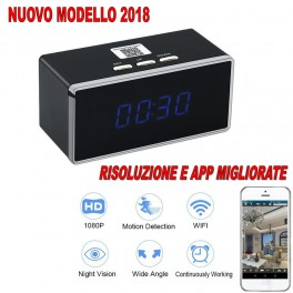 OROLOGIO SVEGLIA SPIA WIFI IP 3G CAM FULL HD 1080P MICROSPIA TELECAMERA VIDEO AUDIO FOTO
