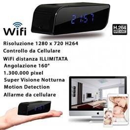 SVEGLIA TELECAMERA SPIA MICROCAMERA CAM NIGHT VISION NASCOSTA 3G WI FI WIFI