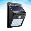 LUCE LED LAMPADINA PANNELLO SOLARE PIR SENSORE DI MOVIMENTO PER ESTERNO 20 LED