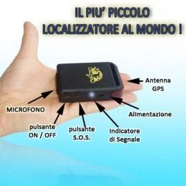 MINI GPS TRACKER TK 102B ANTIFURTO LOCALIZZATORE SATELLITARE