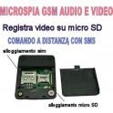 MICROSPIA GSM X009 SPIA AUDIO E VIDEO INTERCETTAZIONE AMBIENTALE CIMICE SPY TELEFONO