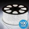 LUCE LED 5050 STRISCIA LED LUCE NATALE 100 MT BIANCO ILLUMINAZIONE DECORAZIONE DA ESTERNO 220V