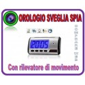 SVEGLIA OROLOGIO SPIA MICROSPIA, CIMICE SPY CAM CON RILEVATORE DI MOVIMENTO