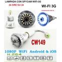 MICROSPIA LAMPADINA SPIA WIFI Spy Camera Spia HD MOTION DETECTION TELECAMERA MICRO NASCOSTA MICROCAMERA