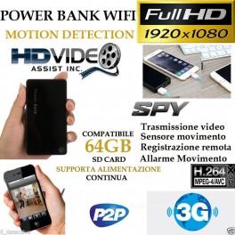 Spy Camera Spia WIFI TELECAMERA MICRO NASCOSTA MICROCAMERA FULL HD MOTION.